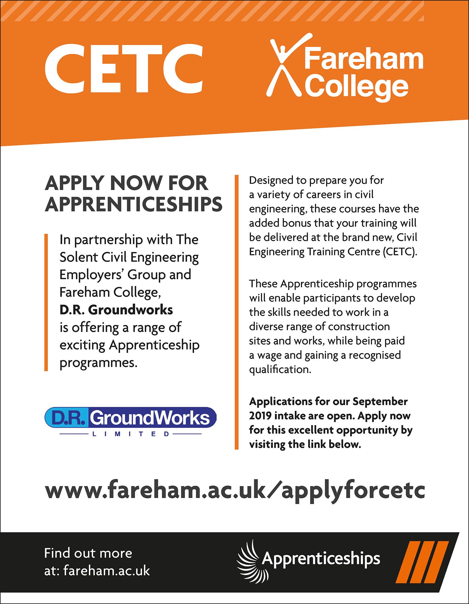 CETC Civil Engineering Apprenticeships Hampshire